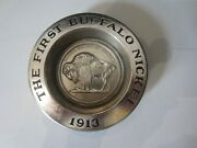 Vintage Avon The First Buffalo Nickel 1913 Five Cents Ashtray / Dish
