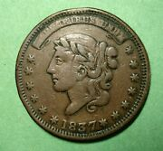 1837 United States Liberty Not One Cent For Tributeandnbsp Hard Times Token