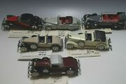 6 Rio Rolls Royce-mercedes Toy Cars 143 Scale Mint Condition With Display Box