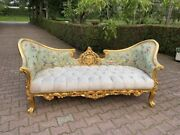 Sofa/settee/couch In French Louis Louis Xvi Style. Velvet/floral Fabric.
