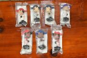 Lot Of 7 Post Cereal Mini Bobbleheads - Griffey Hunter Glaus Giambi Schilling