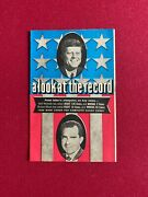 1960 John F. Kennedy A Look At The Record Labor Booklet Scarce / Vintage