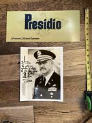 Sean Connery The Presidio Signed Autograph Photo With Crew Parking Card And Coa