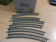 Trix Western Germany 4922 N Scale Curved Track - Lot Of 6, Used, V Good 9514