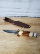 Very Old Solingen Cutlery B. Svoboda Stag Handle Knife  Germany