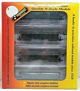 N Roundhouse 89418 50' Overland Ny Central And Hudson River 4-car Pass Set Nib