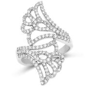 Christmas 1.27ct Natural Round Diamond 14k Solid White Gold Ring Size 7