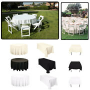 Rectangle Round Square Polyester Table Cloth Cover Wedding Party Table Protector
