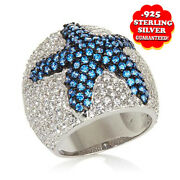 Hsn Victoria Wieck 3.71 Ct Absolute Vermeil Starfish Dome Ring Size 7