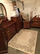 Vintage Lexington Brand Furniture 5 Piece Twin Bed Cherry Bedroom Setpre-owned