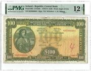 Ireland - Republic, Central Bank 100 Pounds 1977, P-69b, Serial Number 4 Pmg 12