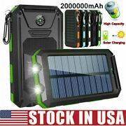 💥2021 Waterproof 200000mah Usb Portable Charger Solar Power Bank Apple/android⭐