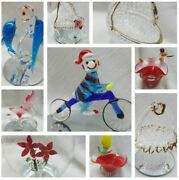 Hand Made Vintage Glass Figures In Original Box Several To Choose From Free Ship