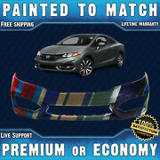 New Painted To Match Front Bumper For 2014 2015 Honda Civic 1.8l Coupe 2dr 14 15