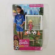 Barbie Brunette You Can Be Anything Soccer Coach Playset Doll 2019