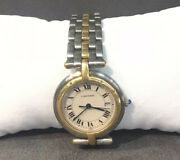Panthere Vendome 183964 30mm 18k Gold/ Stainless Steel Good Condition