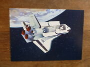 1981 Swiss Space Shuttle Postcard P/m Challenger Sts-8 Launch 1983 Kennedy
