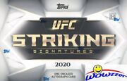 2020 Topps Ufc Striking Signatures Factory Sealed Hobby Box-encased Autograph