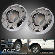 2pcs For 2005-2018 Ford F350 Dually 4x4 Open Front Wheel Chrome Center Hub Cap