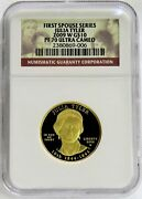 2009 W Gold 10 Julia Tyler 4844 Minted Spouse 1/2 Oz Proof Coin Ngc Pf 70 Uc
