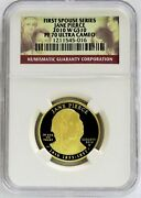 2010 W Gold 10 Jane Pierce 4775 Minted Spouse 1/2 Oz Proof Coin Ngc Pf 70 Uc
