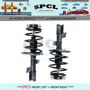 2x Front Struts And Spring Coil Assemblies For 2011-2014 Toyota Sienna 8 Passenger