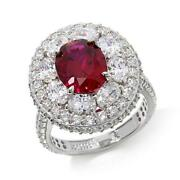 Hsn Jean Dousset 6.32 Ct Absolute And Created Ruby Cluster Ring 8 279