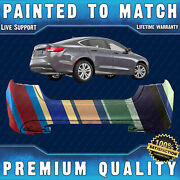 New Painted To Match Rear Bumper For 2015-2017 Chrysler 200 W/ Dual Exhst 15-17