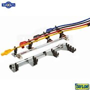 Taylor/vertex Chrome Linear Wire Loom Kits Fits 7-9mm Wires, Black Plated