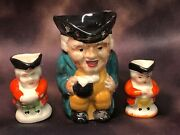 Vintage Marutomoware And Others Face Mugs Toby Jug Set Of 3 Made In Japan Lot 1