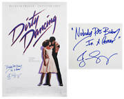 Jennifer Grey Signed Dirty Dancing F/s Poster W/nobody Puts Baby In A Corner- Ss
