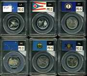 Lot Of 6 25c Statehood Quarters Some Silver Certified By Pcgs 73704781