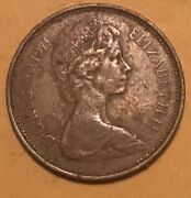 Uk British 2 New Pence 1971 Elizabeth Ii Foreign Coin/extremely Rare
