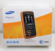 Samsung Magnet Sgh-a257 - Orange Atandt Cell Phone In The Box W/ Charger Vintage