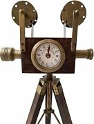 Old Wooden Reel Antique Camera /wooden Tripod For Fatherday Decoration Gift Item