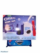 Oreo Dunking Dunk Set Mug Cookie Cage Cookies And Tong + Extra Cookies New
