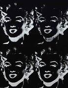 New Andy Warhol Marilyn Monroe Reverse Collection Black And White Quad Poster