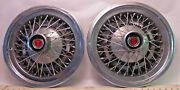 Set Of Two - 1970and039s To 1980and039s Mercury Cougar 16 Wire Wheel Hub Caps - R15