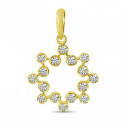 Christmas 0.85ct Natural Round Diamond 14k Solid Yellow Gold Pendant