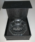 Raw Etched Solid Leaded Crystal Ashtray - Limited Edition Weight 3.5lb