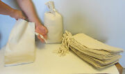 20 Duck Canvas Coin Bags With Sewn-on Ties 9 By 17.5 Bank Deposit Change Sacks