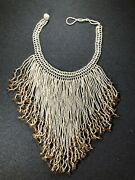 Vintage Native American Beaded Necklace - Amazing