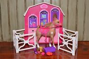 Barbie And Her Sisters In A Pony Tale Horse Stable Playset W/ Accessories