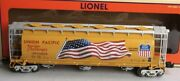 ✅lionel 6-58599 Union Pacific Usa Flag Cylindrical Hopper Car 2011 Lcca Heritage