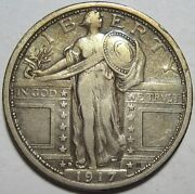 = 1917-d Xf Standing Quarter Nice Details Free Shipping Type 1 T1