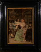 Framed Early 20th Century Crystoleum - Courting Victorians