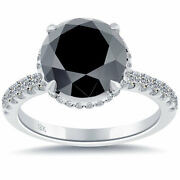 4.65 Carat Carrieand039s Sex And The City 2 Natural Black Diamond Engagement Ring 18k