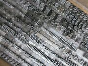 Letterpress Lead Type 24 Pt. French Plate Script B B And S H76