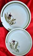 3 Vintage Buchan Thistleware Stoneware Dinner Plate Saucer And Bowl 50and039s Era-