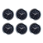 Westclox Round Wall Clock Brushed Aluminum 9 Inch Analog Silver Black 6-pack